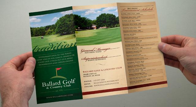 Ballard Golf & Country Club Brochure | Noe Design
