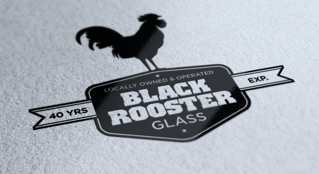 Black Rooster Glass Identity