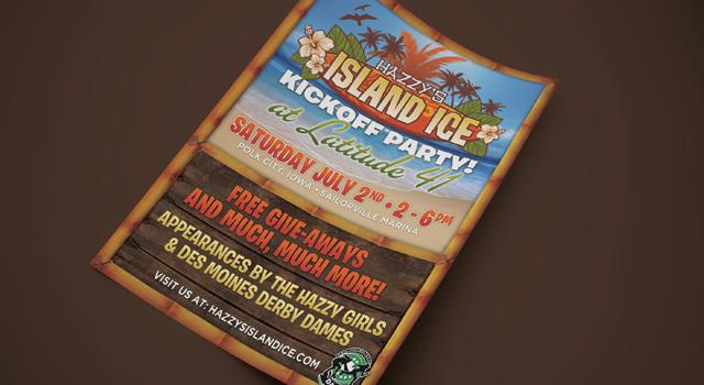 Hazzy's Island Ice Branding