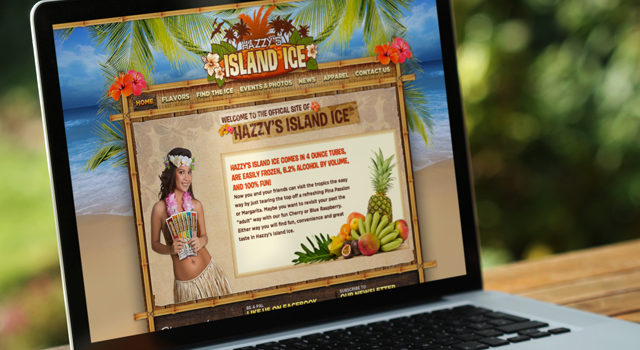 Hazzy's Island Ice Website
