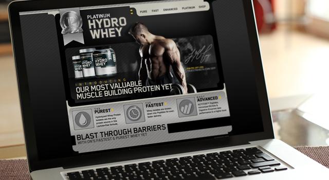 Optimum Nutrition Platinum Hydro Whey website