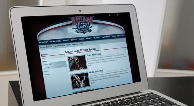 Ballard Bombers Website   Noe Design